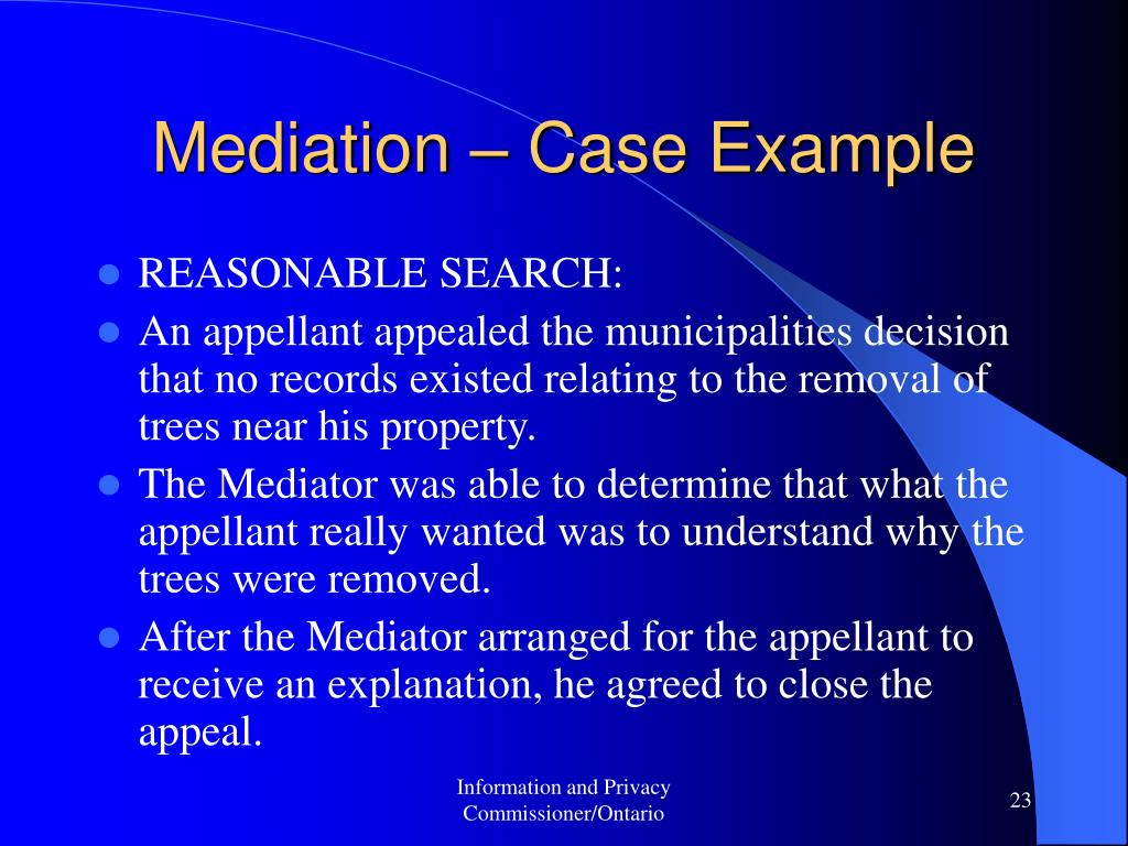 Mediation – Case Example