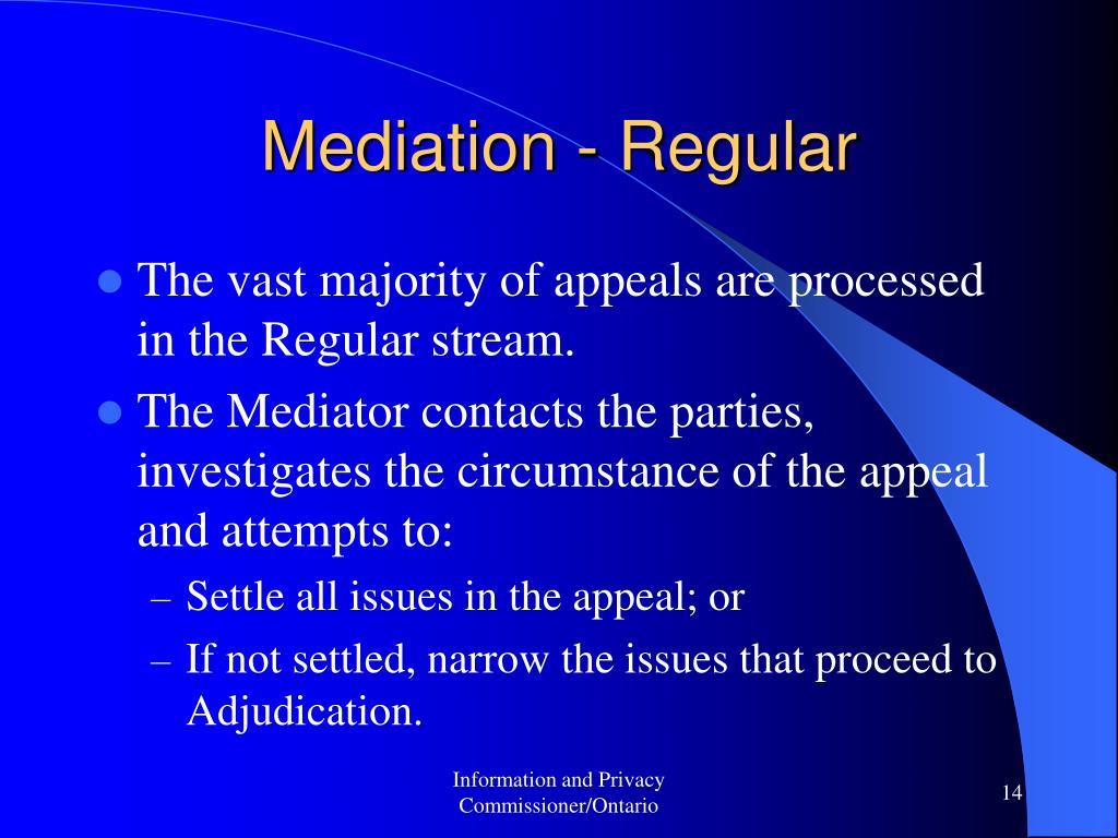 Mediation - Regular