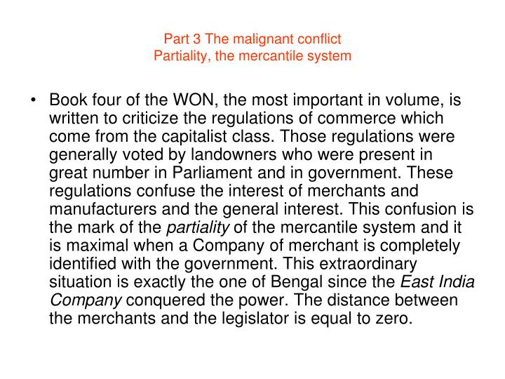 Part 3 The malignant conflict