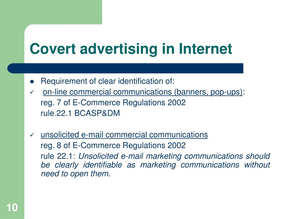 Covert advertising in