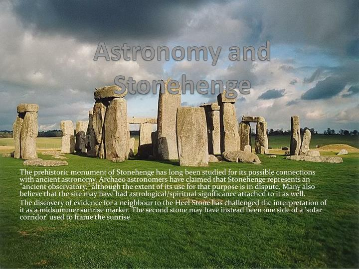Astronomy and Stonehenge