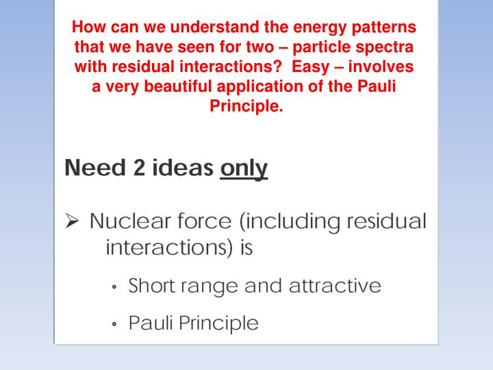 How can we understand the energy patterns