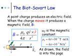 the biot savart law