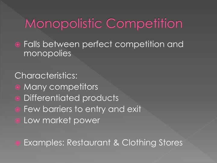 Monopolistic competition1