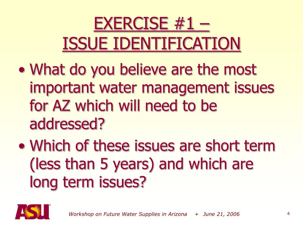 EXERCISE #1 –