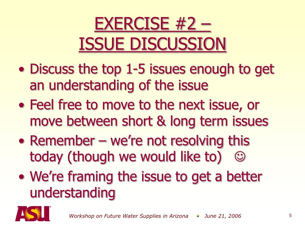 EXERCISE #2 –