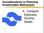 considerations in planning comfortable retirement3