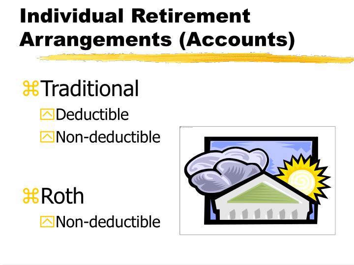 Individual Retirement Arrangements (Accounts)