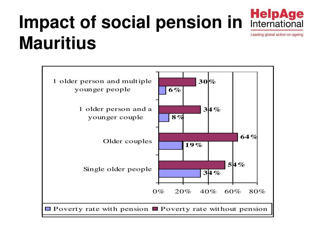 Impact of social pension in Mauritius