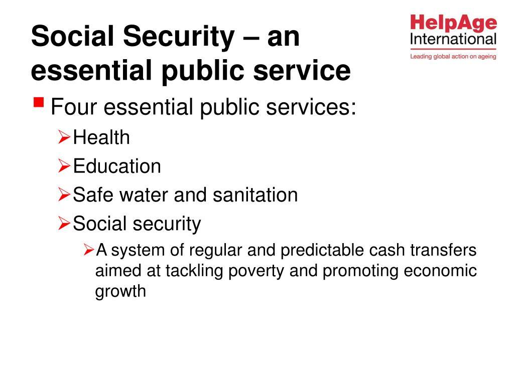 Four essential public services:
