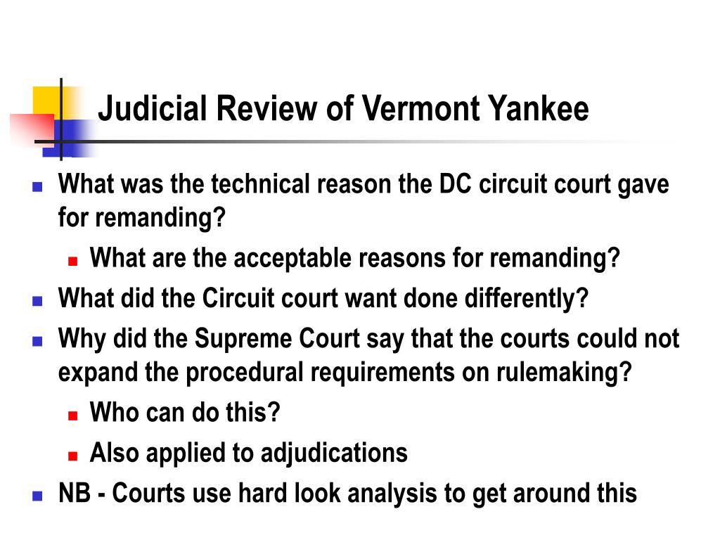Judicial Review of Vermont Yankee