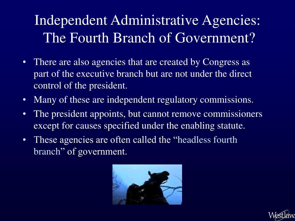 Independent Administrative Agencies: