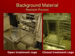 background material restraint process