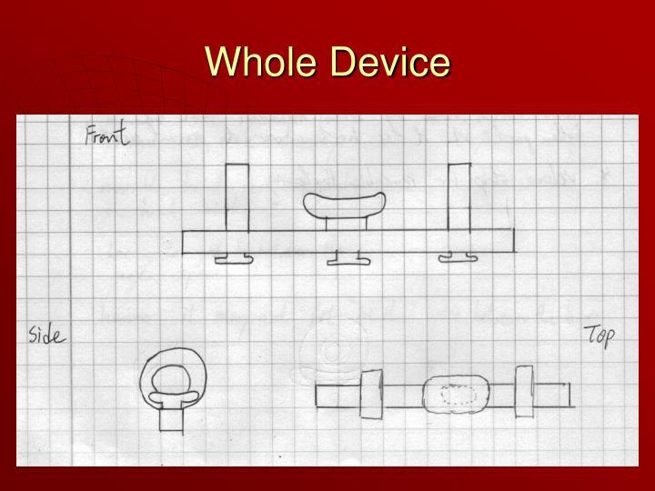 Whole Device