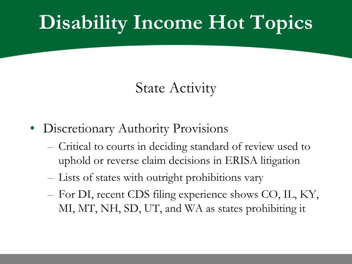 Disability income hot topics3