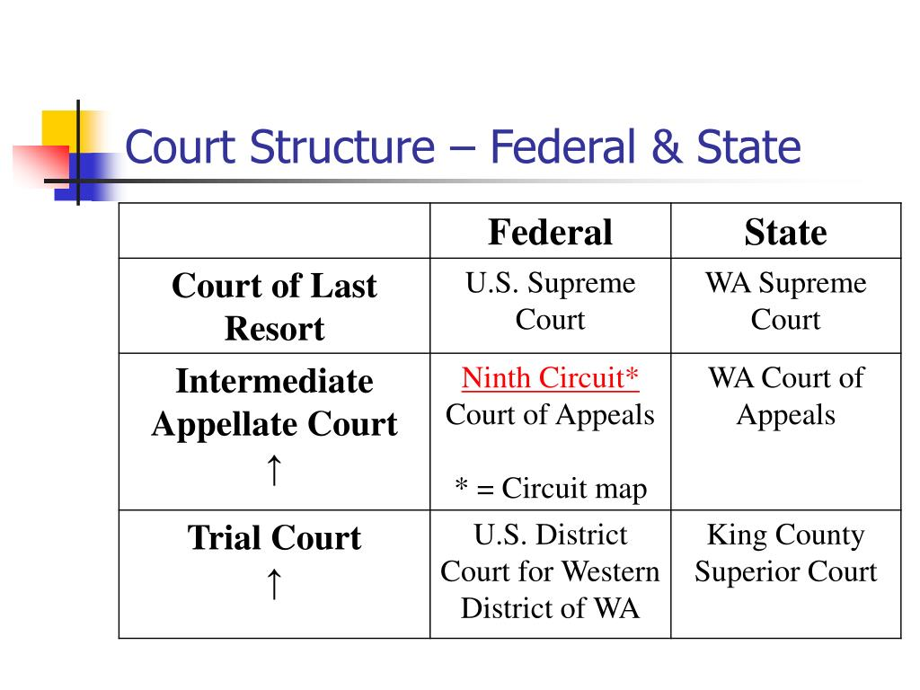 Court Structure – Federal & State