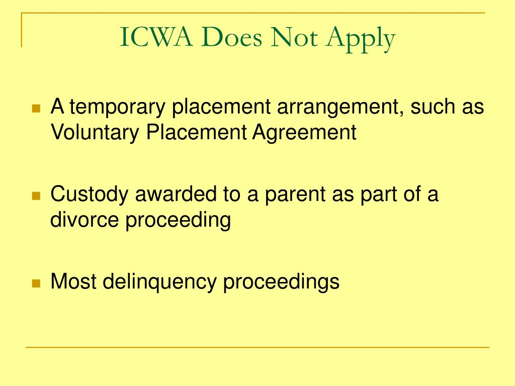 ICWA Does Not Apply
