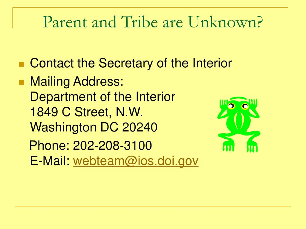 Parent and Tribe are Unknown?
