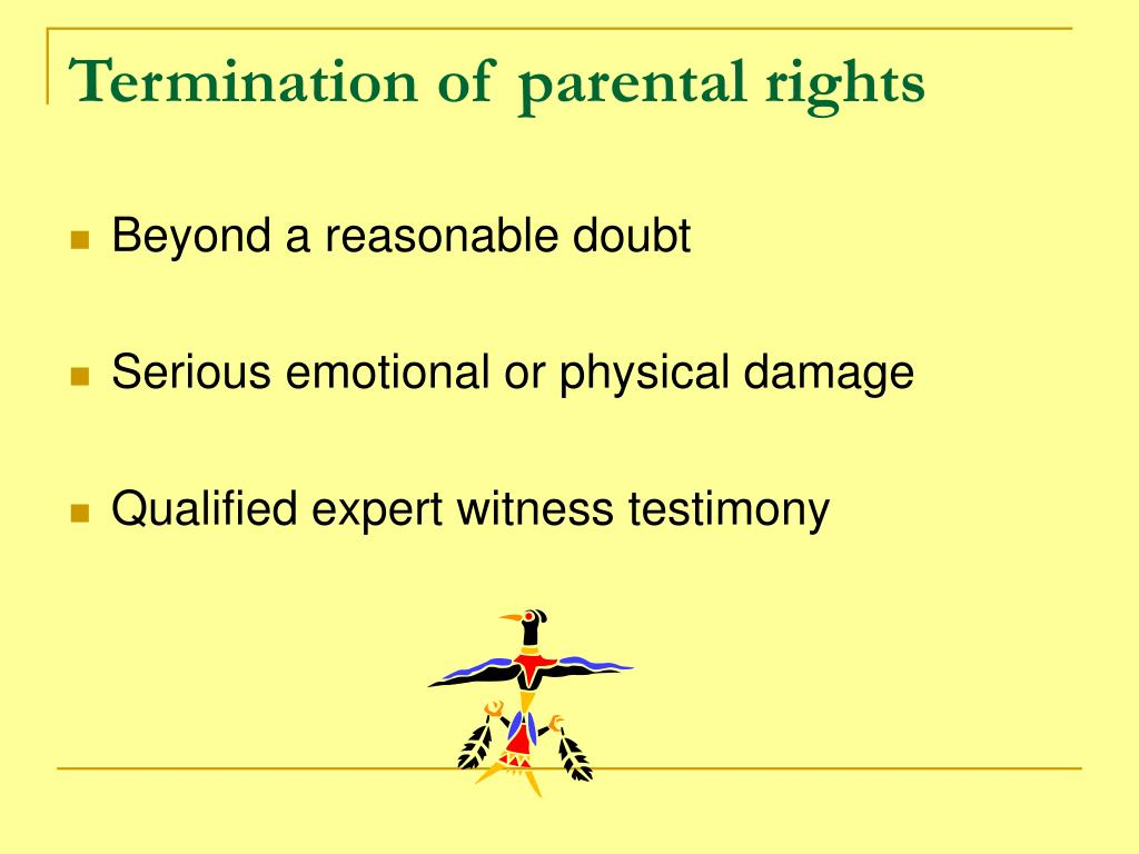 Termination of parental rights