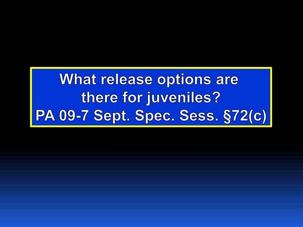 What release options are