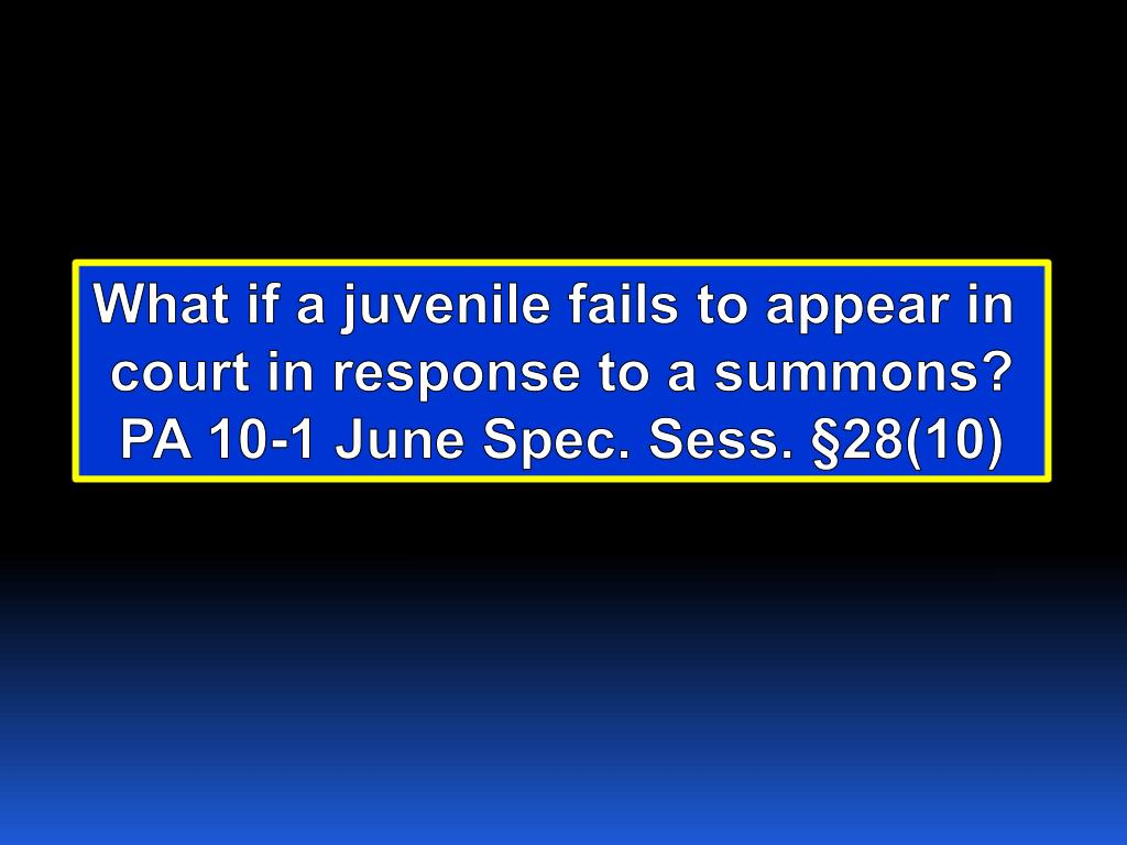 What if a juvenile fails to appear in