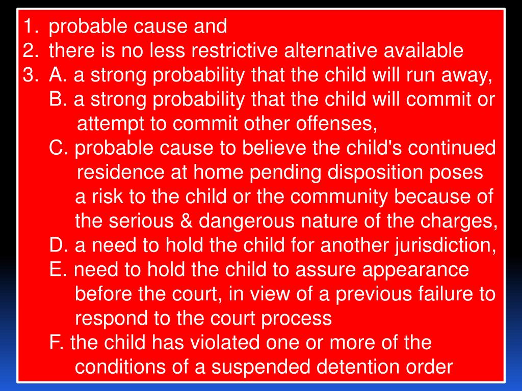 probable cause and