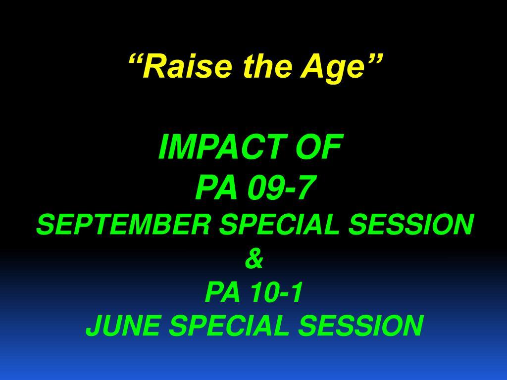 """Raise the Age"""