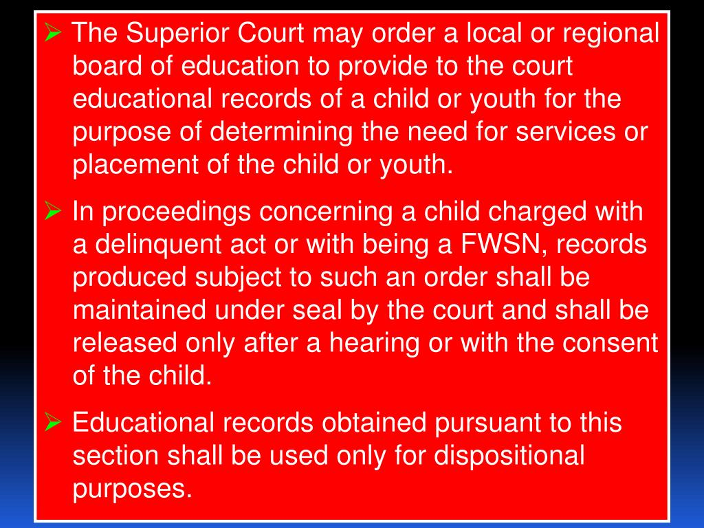 The Superior Court may order a local or regional