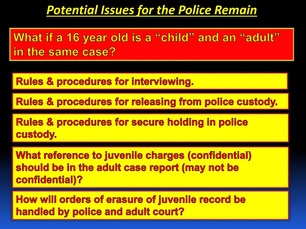Potential Issues for the Police Remain
