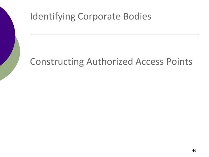 Identifying Corporate Bodies