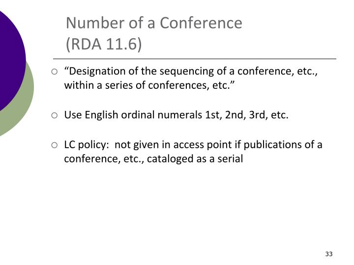 Number of a Conference