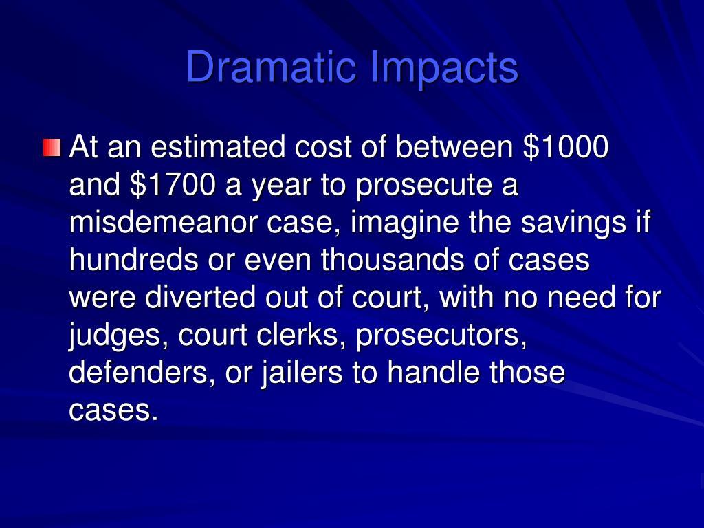 Dramatic Impacts