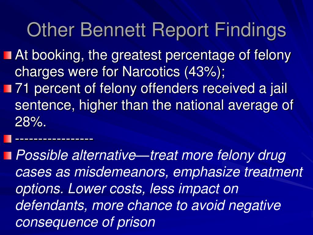 Other Bennett Report Findings