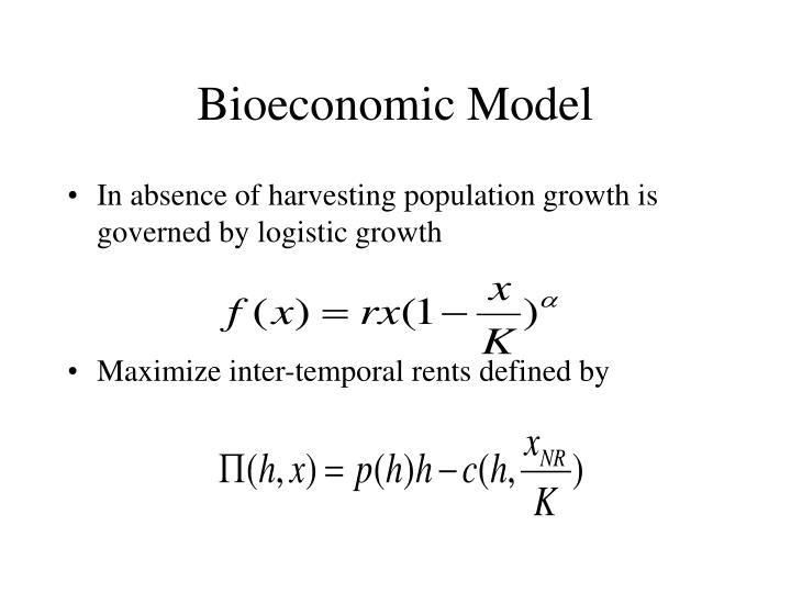 Bioeconomic Model