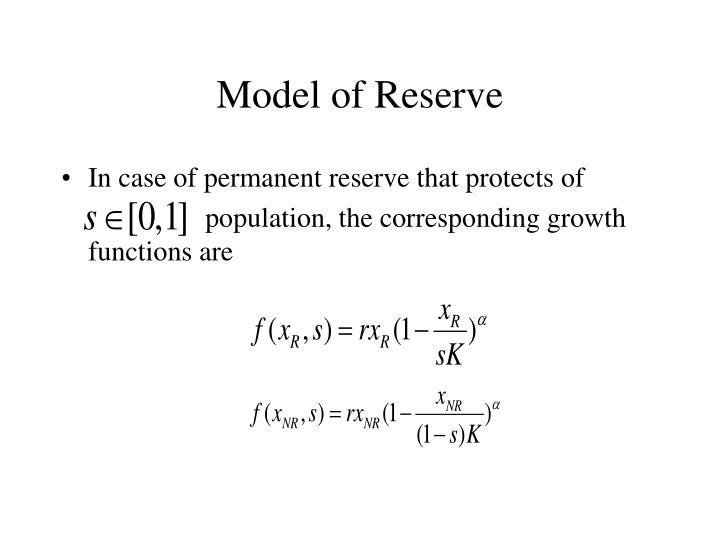 Model of Reserve