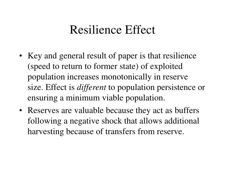 Resilience Effect