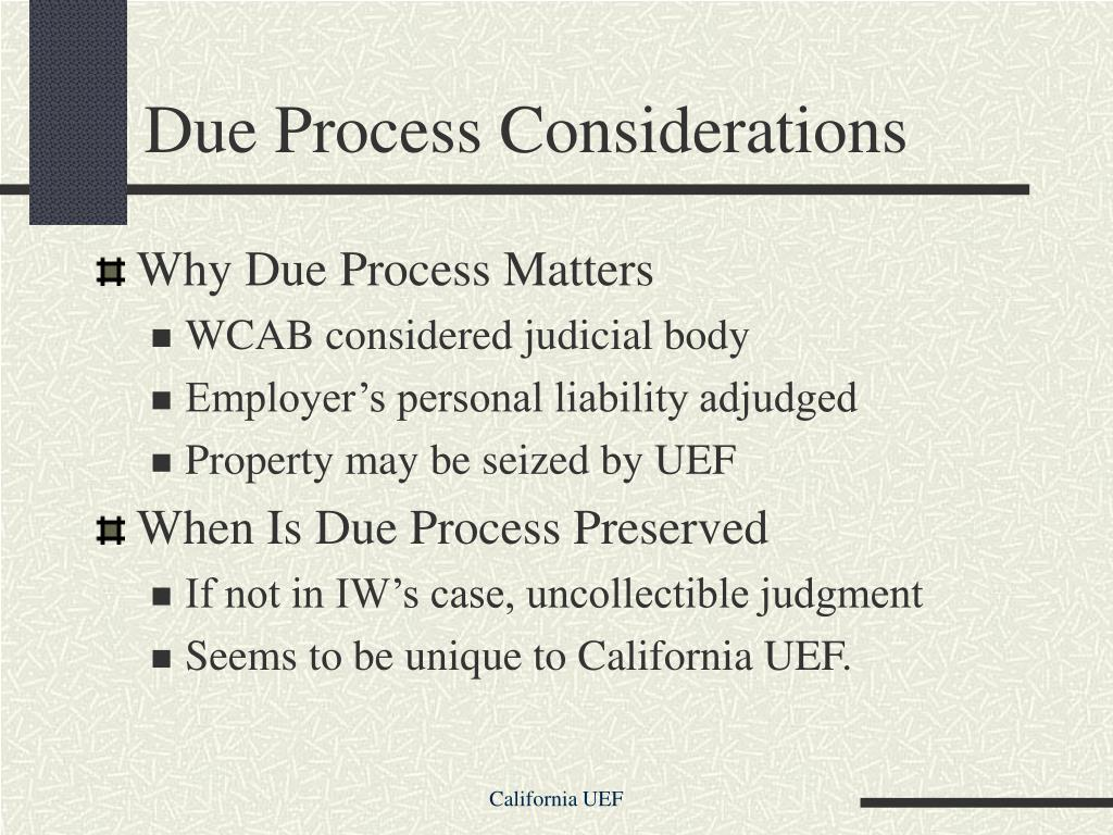 Due Process Considerations