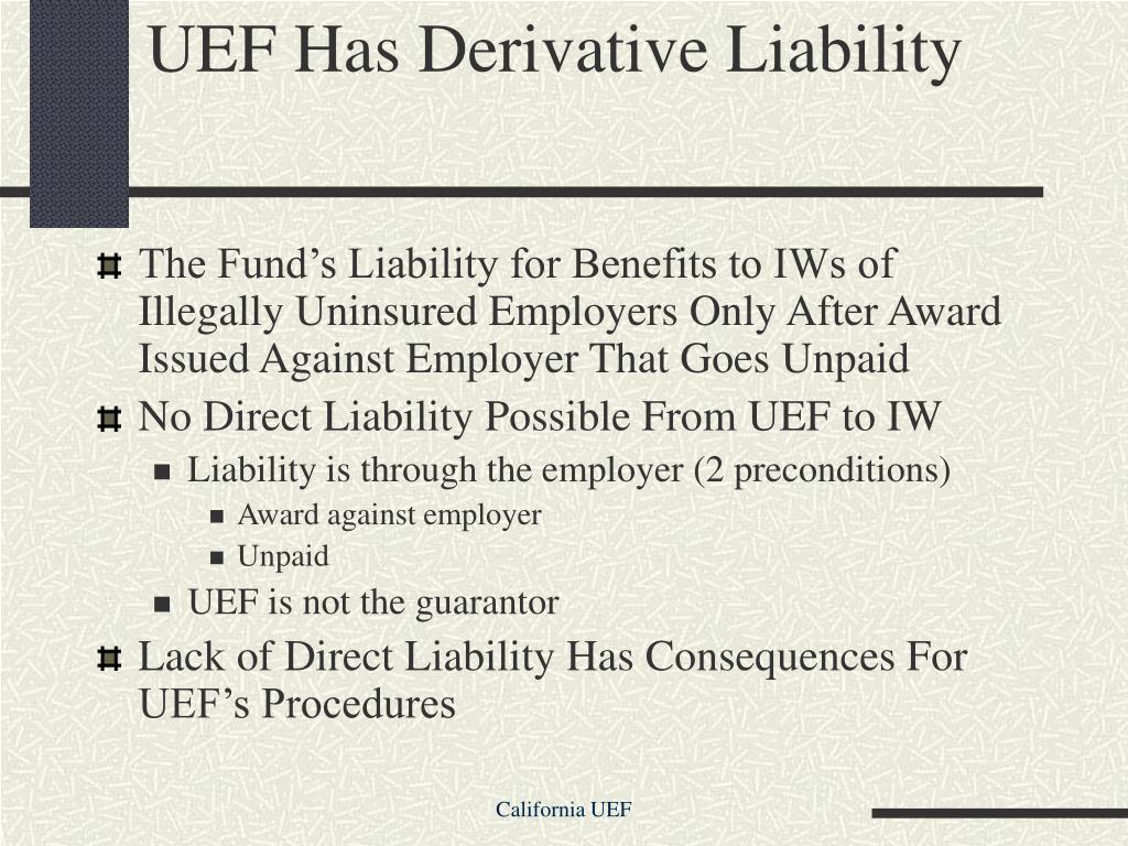 UEF Has Derivative Liability