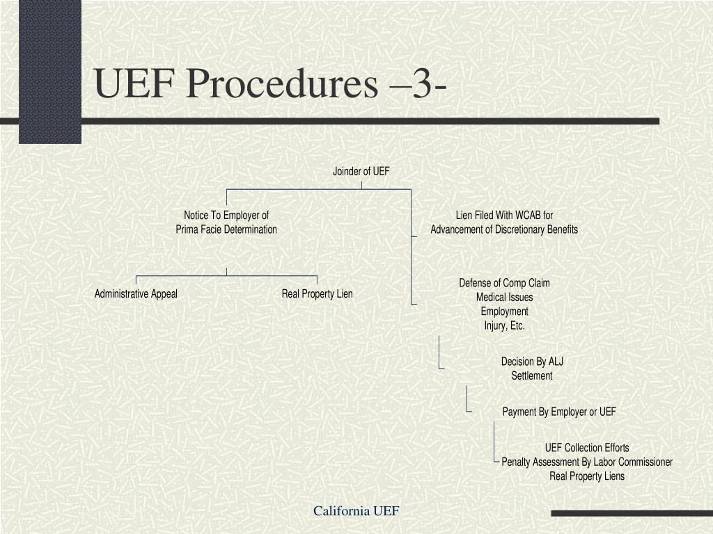 UEF Procedures –3-