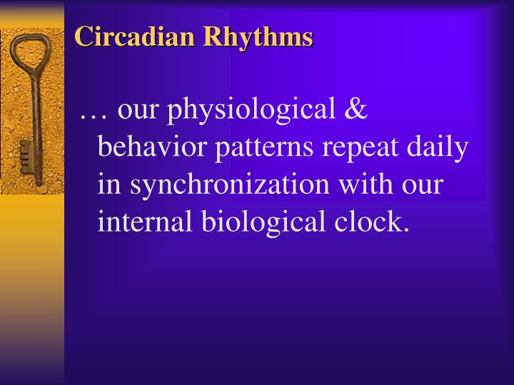 Circadian Rhythms