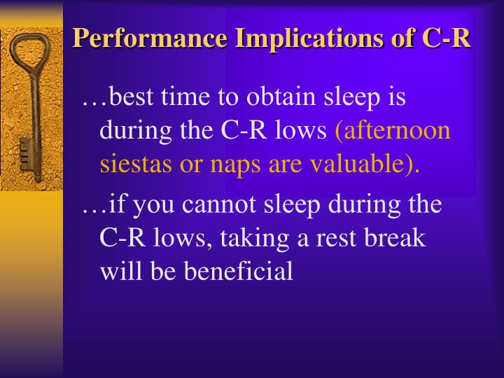 Performance Implications of C-R