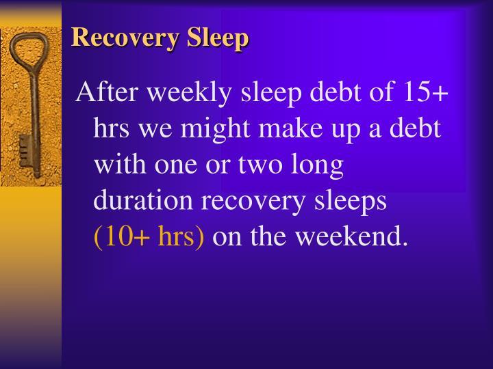 Recovery Sleep
