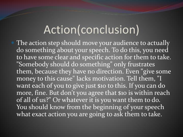 Action(conclusion