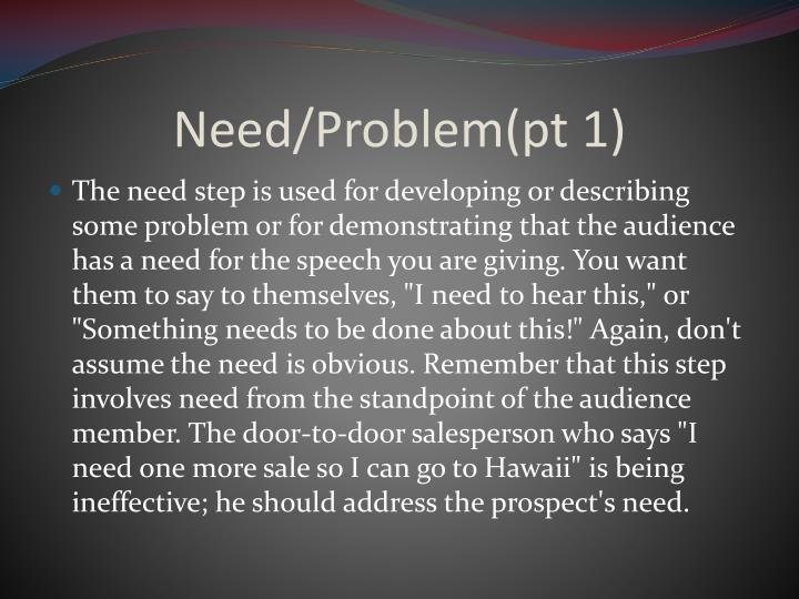 Need/Problem(pt 1)