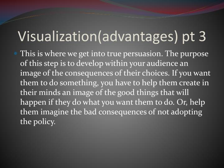 Visualization(advantages