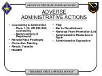 adverse administrative actions