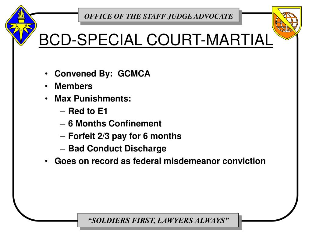 BCD-SPECIAL COURT-MARTIAL