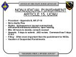 nonjudicial punishment article 15 ucmj
