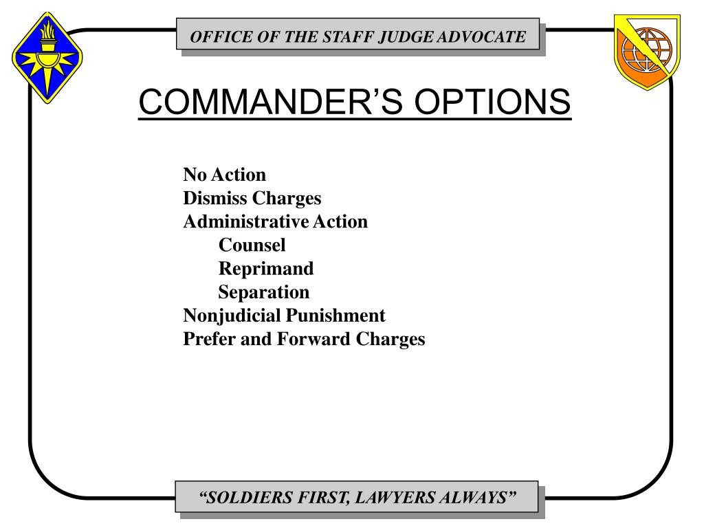 COMMANDER'S OPTIONS