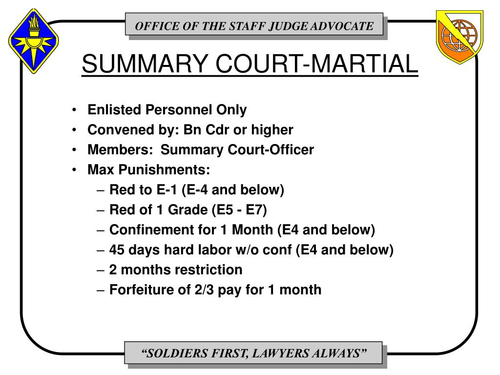 SUMMARY COURT-MARTIAL